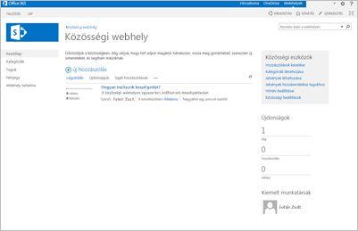 Közösségi webhely sablonja