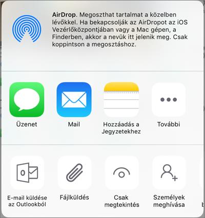 Megosztás a OneDrive-ban