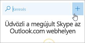 Képernyőkép az Új beszélgetés gombról