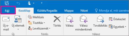 Így néz ki az Outlook 2016 menüszalagja