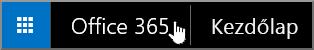 Az Office365 kezdőlapjára navigáló gomb