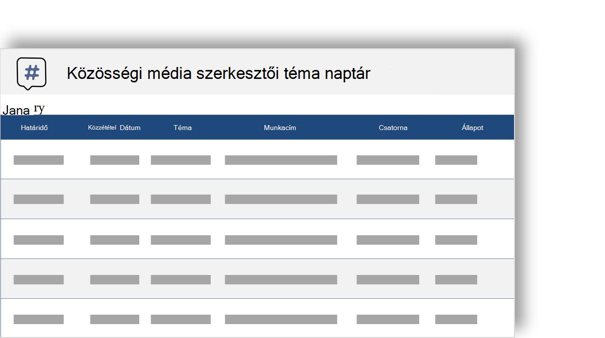 közösségi hálózat Szerkesztői téma naptár elvi képe