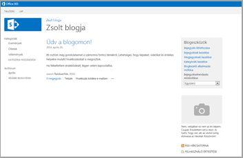 Blogwebhely sablon