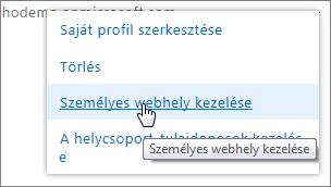 Webhelycsoport-tulajdonosok kezelése