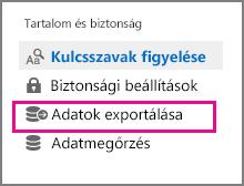 Adatok exportálása parancs