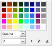 Képernyőkép: a Betűkészlet módosítása ablak