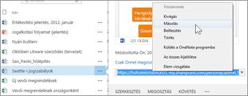 Dokumentum webes URL-címe