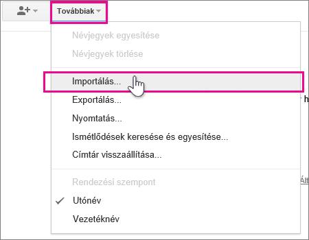 Google Gmail – Kattintson az Egyebek > Exportálás elemre