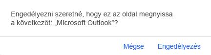 Üzenet megjelenítése az Outlookba való visszatéréshez