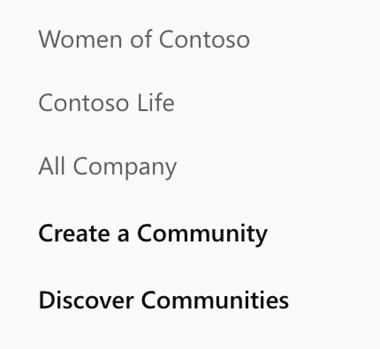 Yammer-Közösség létrehozása