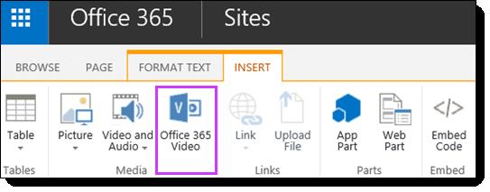 Az Office 365 videó videofájl beágyazása