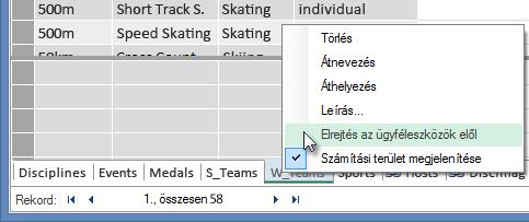 Táblák elrejtése az Excel-ügyféleszközök elől