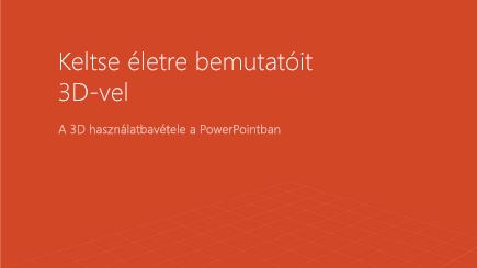 Képernyőkép egy 3D PowerPoint-sablon borítójáról