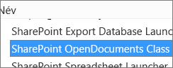 A SharePoint OpenDocuments Class ActiveX-vezérlő engedélyezése