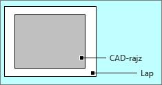 AutoCAD-rajz az oldalszegélyeken belül