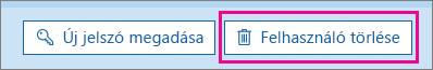 Felhasználó törlése az Office 365-ben.