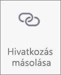 Az Android OneDrive Hivatkozás másolása gombja
