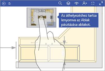 Az Ablak pásztázása ablakot lenyomva tartva húzhatja azt a képernyő más részére.