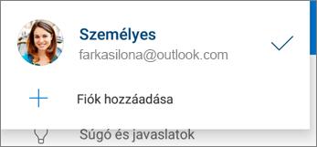 Fiók hozzáadása az Android OneDrive appban