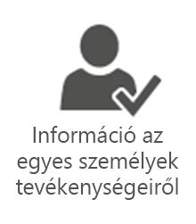 PMO - Információ az egyes személyek tevékenységeiről