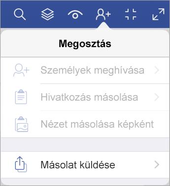 Fájl másolatának küldése az iPad Visio megjelenítőben