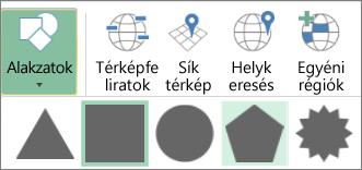 A 3D térképek Alakzatok gombja