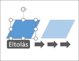 Alakzat áthelyezése pixelenként haladva
