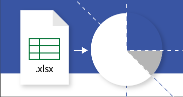 Egy Excel-munkafüzet, amelyet éppen Visio-diagrammá alakítanak