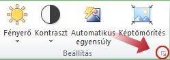 Kép formázása párbeszédpanel-megnyitó ikon
