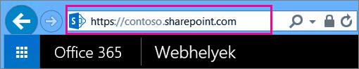 A csoportwebhely URL-címének másolása