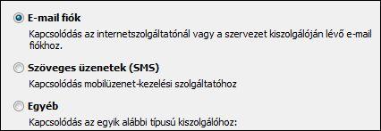 Outlook 2010, Új fiók felvétele – E-mail fiók