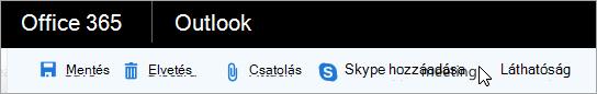 Skype-értekezlet hozzáadása az e-mailhez