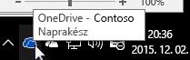 A OneDrive Vállalati verzió szinkronizálási ügyfélalkalmazása