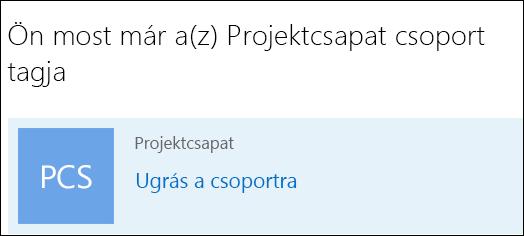 Csatlakozás csoporthoz az Outlook programban