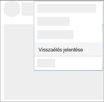 Képernyőkép: a onedrive-ban való visszaélés jelentése