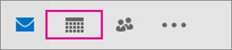 Naptár ikon a navigációs sávon
