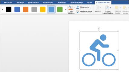 A stílusok gyűjtemény a kerékpár grafikus elemére alkalmazott világoskék stílussal
