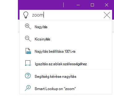 Képernyőkép a Mutasd meg súgórendszerről a OneNote-ban
