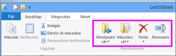 A letöltött fájl mappájának megnyitása