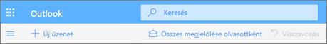 Képernyőkép az Outlook.com-beli Keresés lekérdezésmezőről.