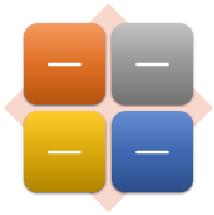 Az egyszerű mátrix SmartArt-ábra