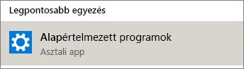 Alapértelmezett alkalmazások a Windowsban