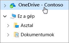 Rövid útmutató alkalmazottaknak: Asztali dokumentumok és a OneDrive