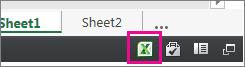 Az Excel ikonja a webes Excelben