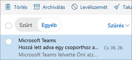 Üzenetek archiválása a Webes Outlookban