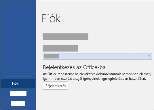 Jelentkezzen be a Microsoft vagy az Office 365 munkahelyi vagy iskolai fiókjával.