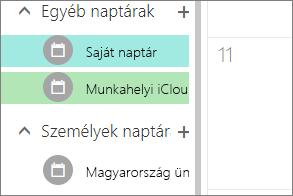 iCloud naptár jelennek meg az egyéb naptárak a webes Outlookban