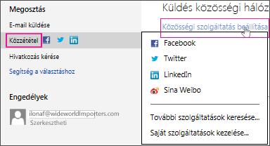 Bemutató közzététele közösségi hálózatban