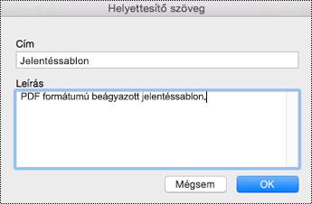 Helyettesítő szöveg hozzáadása beágyazott fájlokhoz a Mac OneNote-ban