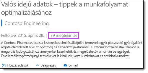 Megtekintések száma az Office 365 Videó szolgáltatásban